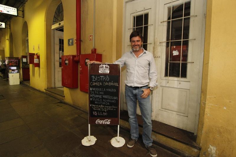 Clovis Althaus é administrador da rede Café do mercado, vencedora da concorrência pelo espaço