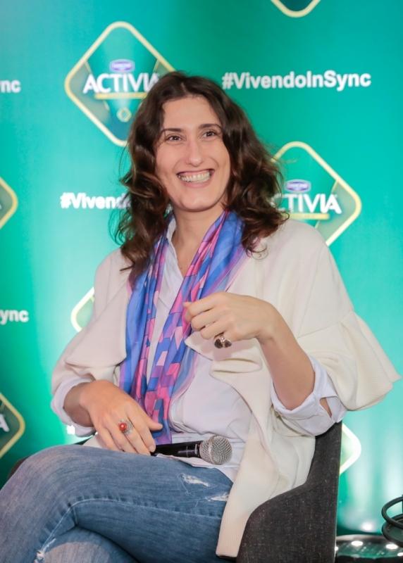 Paola Carosella participou do brunch da nova campanha Activia, #vivendoemSync, no Le Bistrot