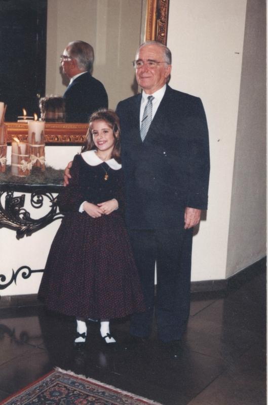 Fernanda Ritter com seu avô