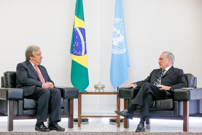Presidente Michel Temer durante encontro com o senhor Antônio Guterres, eleito Secretário-Geral da ONU. (Brasília - DF 31/10/2016) Foto: Beto Barata/PR