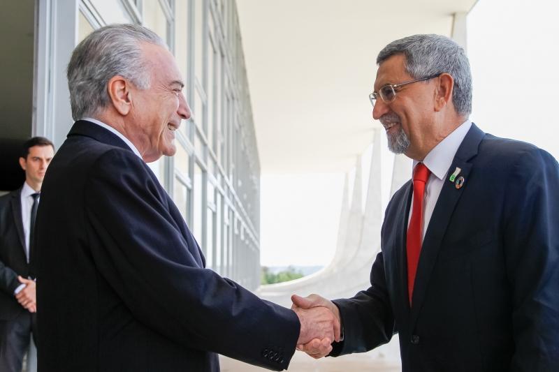 Presidente Michel Temer durante encontro com o senhor Jorge Carlos Fonseca, Presidente de Cabo Verde