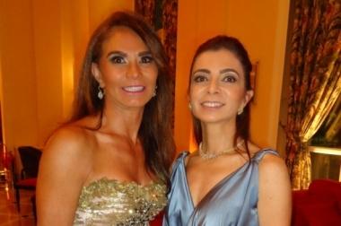 Olga Velho e Livia Bortoncello no casamento de Patrícia e Ricardo Malcon, no Copacabana Palace
