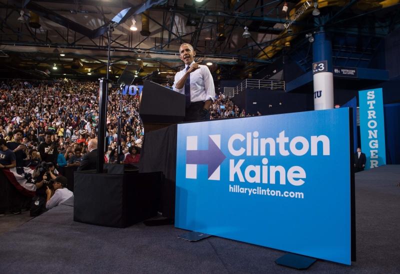 Esse foi o primeiro de dois comícios que Obama fará na Flórida para apoiar Hillary