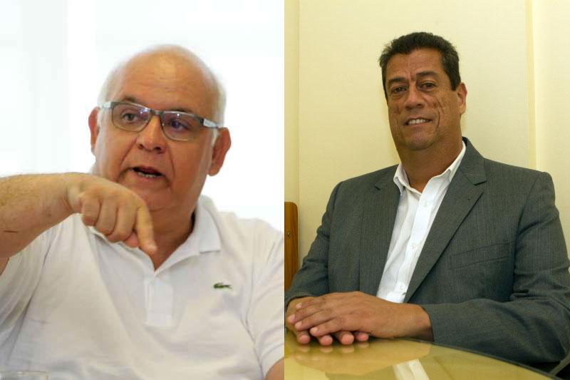 Romildo Bolzan e Raul Mendes (d) disputam o pleito gremista