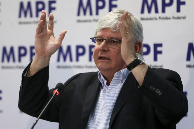 O procurador-geral da República, Rodrigo Janot, durante entrevista coletiva para apresentar os resultados do primeiro ano de seu segundo mandato