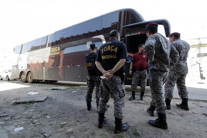Reforço de agentes da Força Nacional chegou ontem ao Rio Grande do Sul