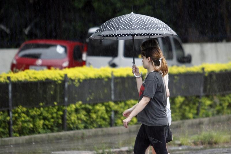 Clima.  Forte pancada de chuva determina o fim de semana e mais periodos de chuva continuarão  pela segunda e terça feiras