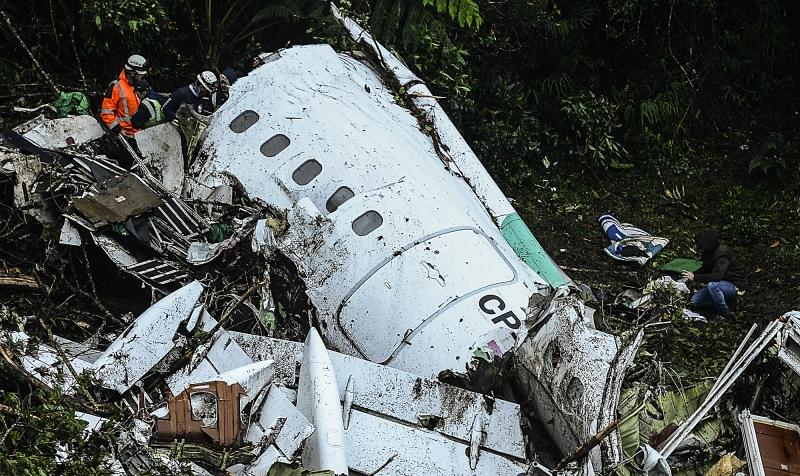 O acidente com o avião que levava a equipe do Chapecoense e 21 jornalistas