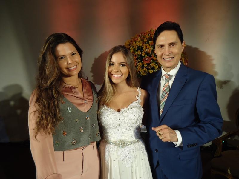 Eduarda Galvani, Victoria Estima Pedone Borges e Odalgir Lazzari no Plaza São Rafael