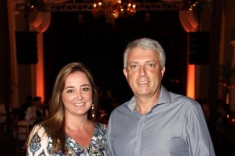Marcia Pilla do Valle e André Santos Rocha na Festa Lounge da Leopoldina Juvenil