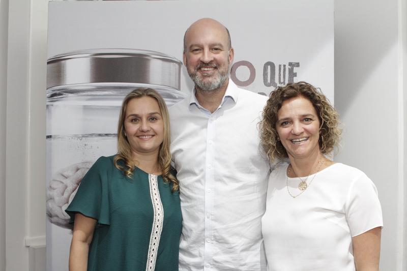 Andréa Corrêa, João Batista Melo e Daise Aimi na abertura da Semana ARP