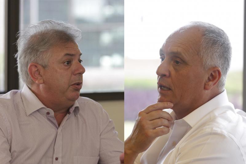 Pedro Affatato e Marcelo Medeiros (d) disputam o pleito colorado