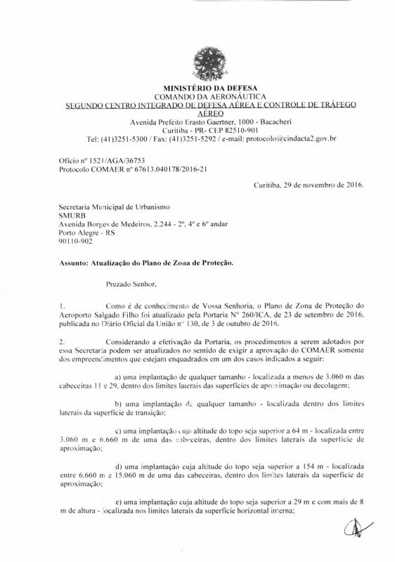 Documento do Comando da Aeronáutica