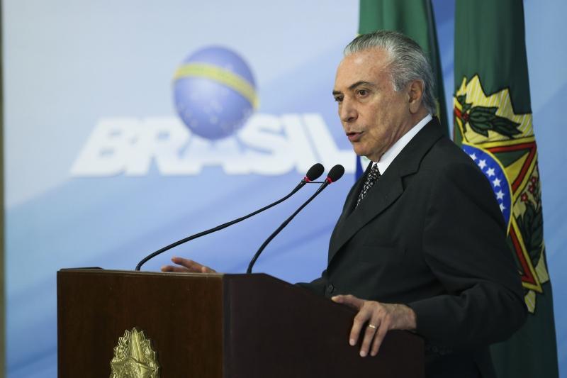 Brasília - O presidente Michel Temer, fala sobre as reformas durante os sete mês do seu governo (Valter Campanato/Agência Brasil)