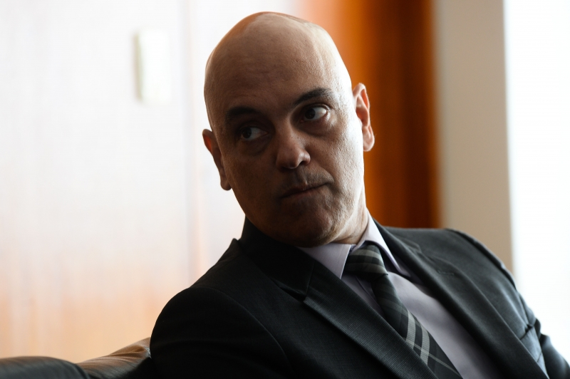Brazil's Justice Minister Alexandre de Moraes during a meeting with Federal Supreme Court (STF) President Carmen Lucia (not framed) at the STF in Brasilia, on January 4, 2016. 