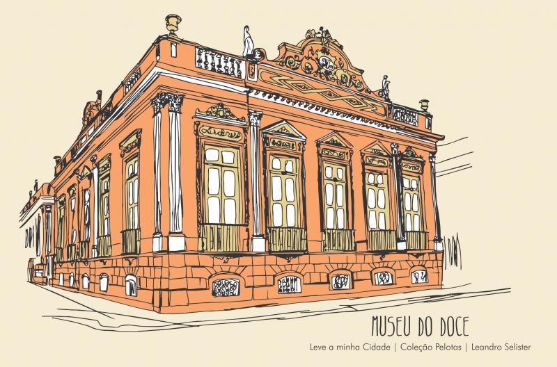 No Sul do Estado, Leandro Selister apresenta desenhos que retratam diversos pontos da cidade