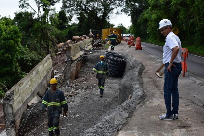 Seguem as obras na BR-116, em Nova Petrópolis