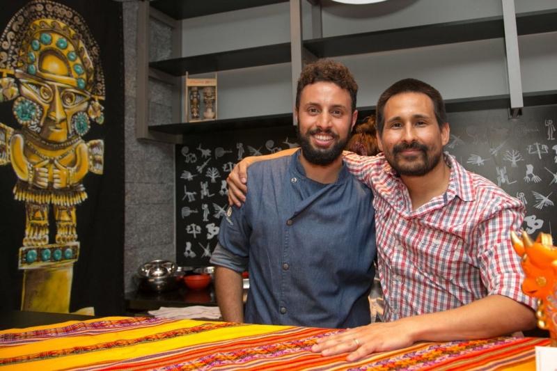 Chef brasileiro Pedro Mattos e o peruano Horácio Icochea Villacorta