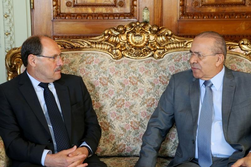 Sartori recebeu o ministro-chefe da Casa Civil, Eliseu Padilha, no Palácio Piratini