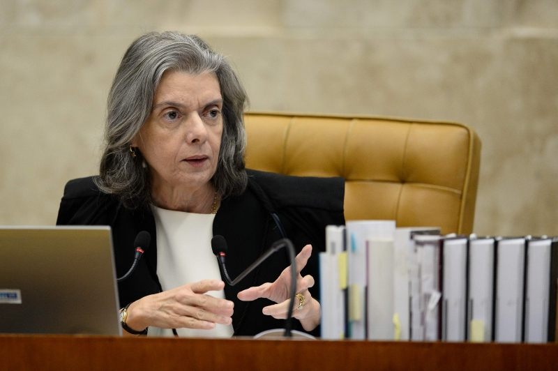 Federal Supreme Court (STF) President Cármen Lúcia during the session of  February 2, 2017. 