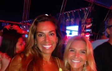 Marla Martins e Andrea Duarte no festival de música que agitou Atlântida