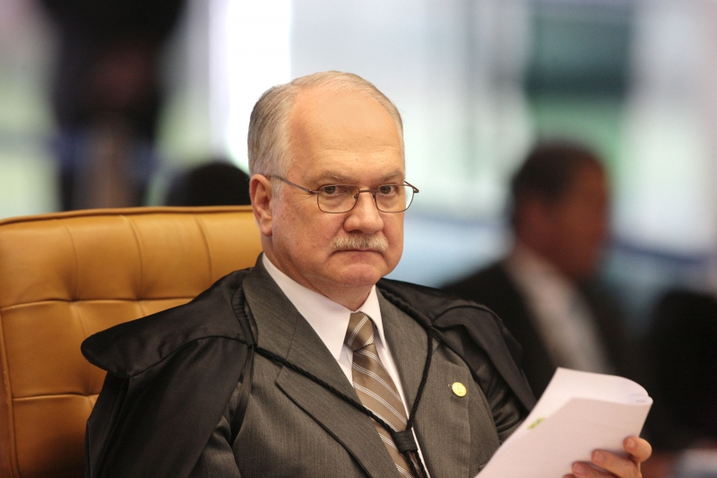 Ministro Edson Fachin durante sessão do STF. Foto: Carlos Moura/SCO/STF  (09/02/2017)