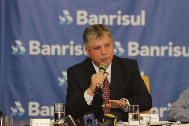 O Banrisul divulga o balanço financeiro de 2016.  na foto: Luiz Gonzaga Veras Mota, presidente
