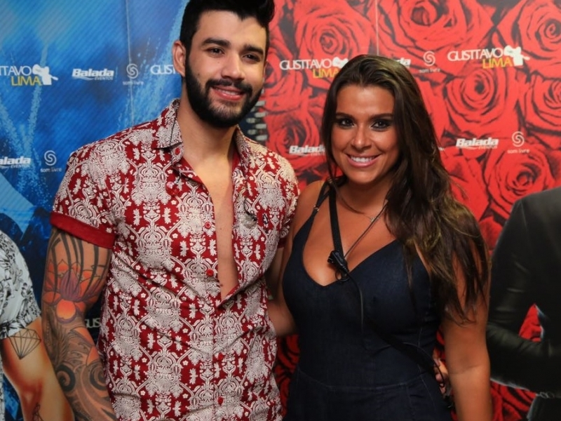 Gusttavo Lima com Shay Campani no seu show na Privilège Xangri-lá