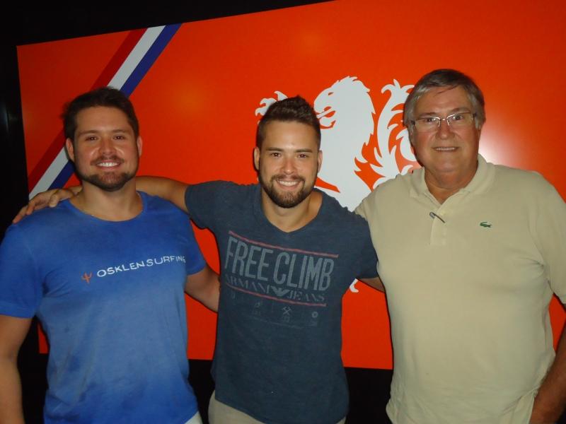 Alexei e Rodrigo Somorovsky com o pai Alfredo Somorovsky