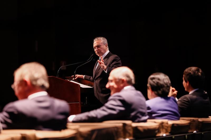 Plano de modernização e desburocratização da agricultura e Solenidade de Lançamento do AGRO+SP. Discurso do Presidente Michel Temer.