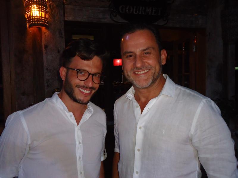 Diego Pretto e Gelson Barth Prates no Bistrô Marina das Flores
