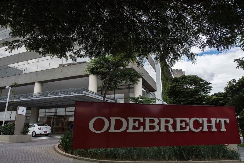 View of the headquarters of Brazilian construction giant Odebrecht SA in Sao Paulo, Brazil on March 2, 2017.