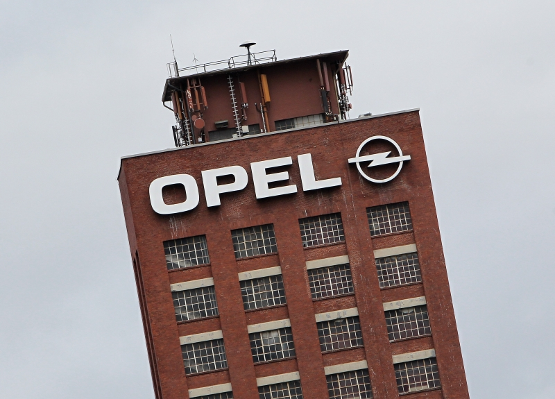 The logo of German car maker Opel is pictured at the company's headquarter in Ruesselsheim, Germany, March 6, 2017.