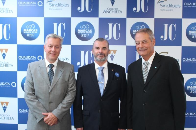 Kleber Ziede, Paulo Bing e Newton Cochlar do Grêmio Náutico União