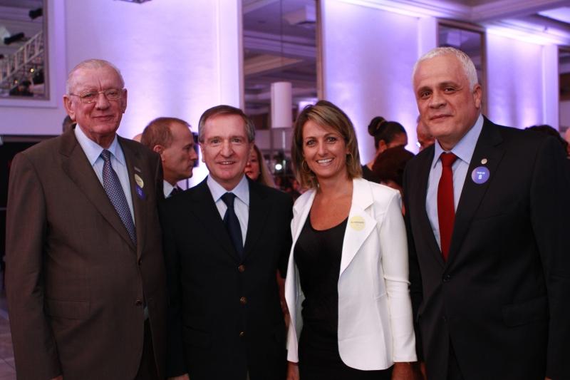 Heitor Müller, da Fiergs; Mércio Tumelero, diretor-presidente do JC; Simone Leite, da Federasul; e Ricardo Breier, da OAB-RS