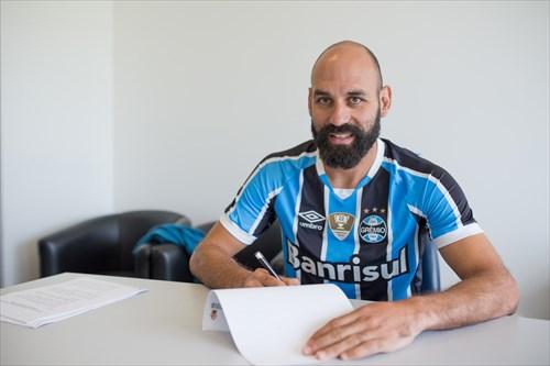 Grêmio anunciou hoje a contratação do zagueiro Bruno Rodrigo