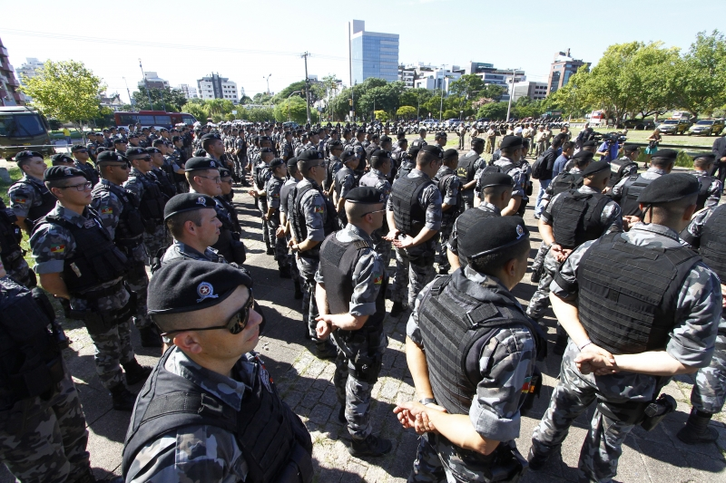 Reforço ficará na Capital até junho, quando 1.060 policiais concluem curso