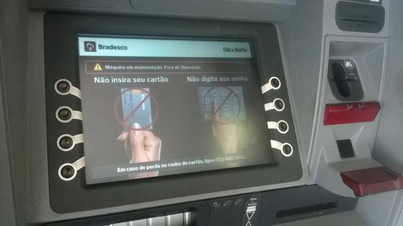 Sistema do banco Bradesco apresenta instabilidade nesta tarde, inclusive nas agências