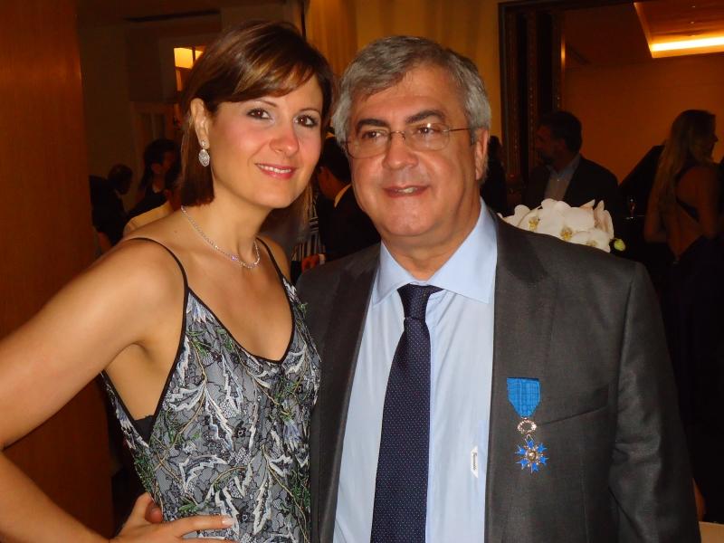 Marie Bendelac Ururahy e o médico condecorado Gilberto Ururahy