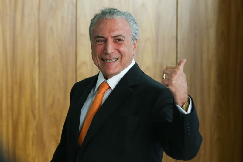 Brasília - Presidente Michel Temer faz pronunciamento sobre dados do Cadastro Geral de Empregados e Desempregados (Caged) do Ministério do Trabalho, em cerimônia no Palácio do Planalto (Valter Campanato/Agência Brasil)