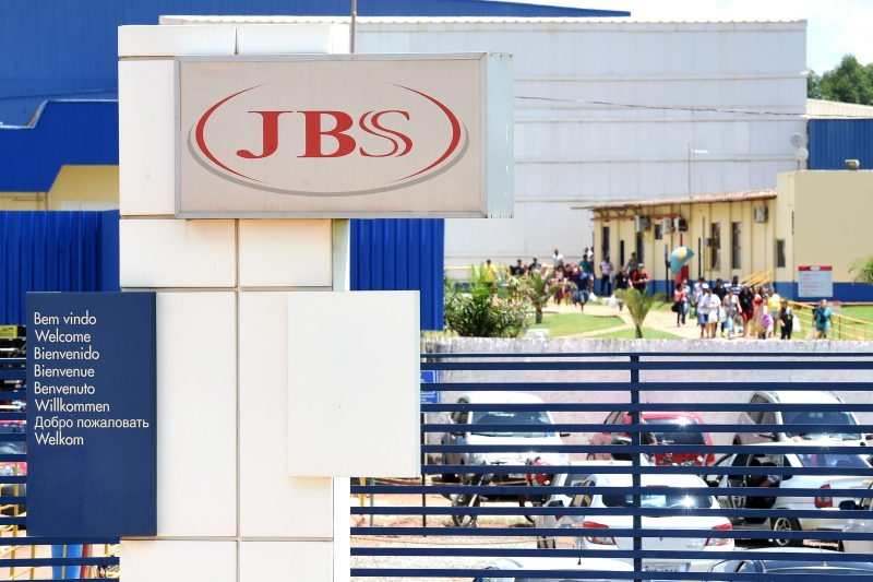 View of the JBS-Friboi chicken processing plant, under investigation for food adultearation, in Samambaia, Federal District, Brazil on March 17, 2017. 