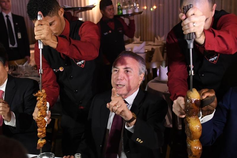Cortes servidos ao presidente vieram da Argentina, Uruguai e Austrália