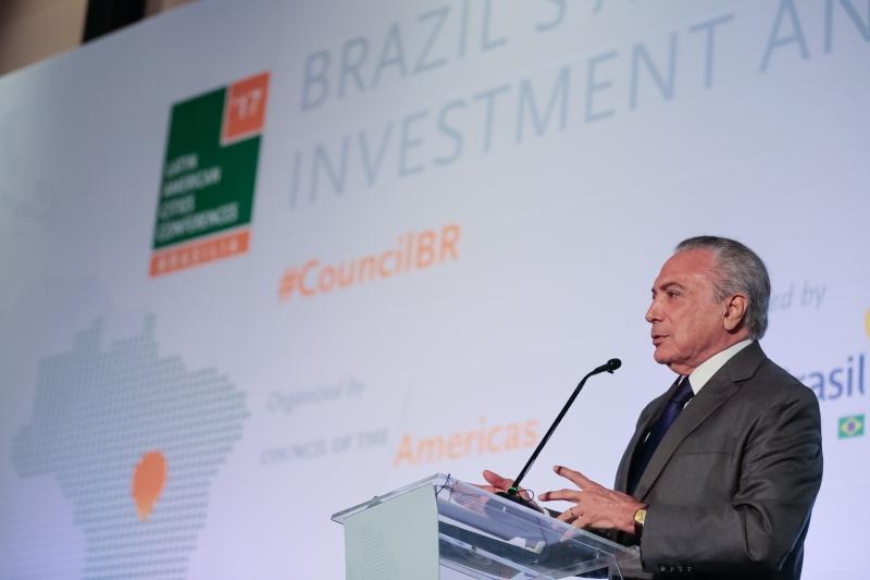 Conferência das Cidades Latino-Americanas 2017. Discurso do Presidente da República Michel Temer. Brasília.