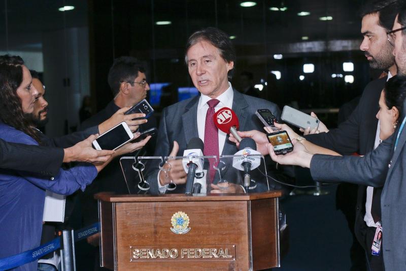 Presidente do Senado Federal, senador Eunício Oliveira (PMDB-CE), concede entrevista. ..Foto: Marcos Brandão/Senado Federal