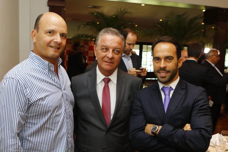Paulo Afonso Feijó, Luiz Henrique Hartmann e Eduardo Fernandez, presidente do Lide-RS