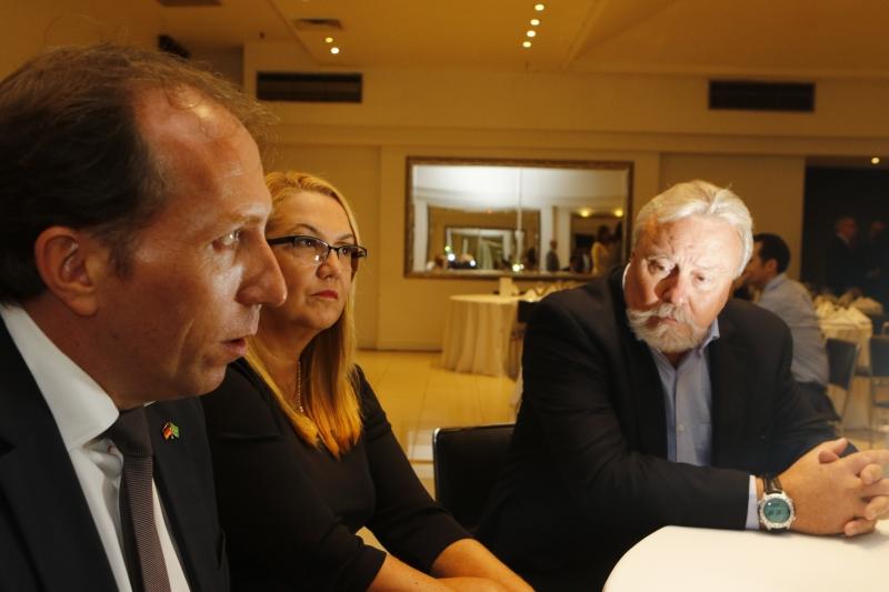 Siebrecht, Susana e Bertinetti se reuniram na Câmara Brasil-Alemanha