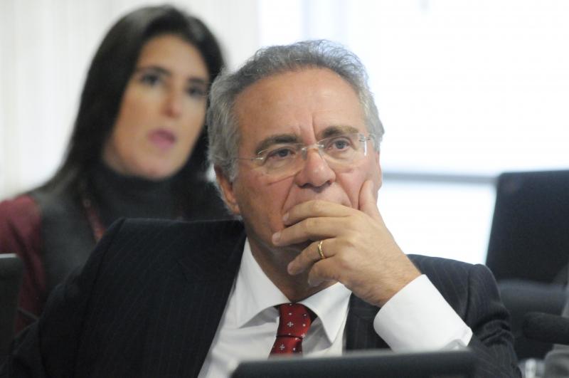 Renan aproveitou a ausência dos principais titulares convidados na audiência para alfinetar o presidente Michel Temer