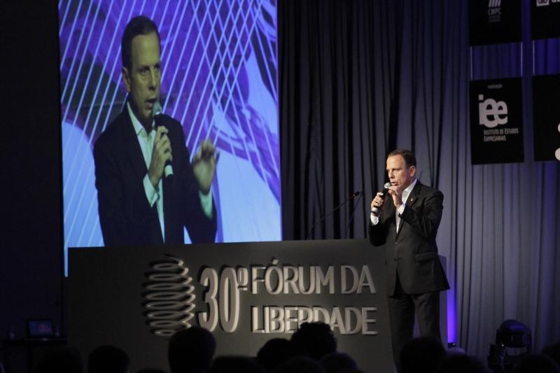 30º Fórum da Liberdade. Na foto:  João Doria Junior ( Prefeito de São Paulo )