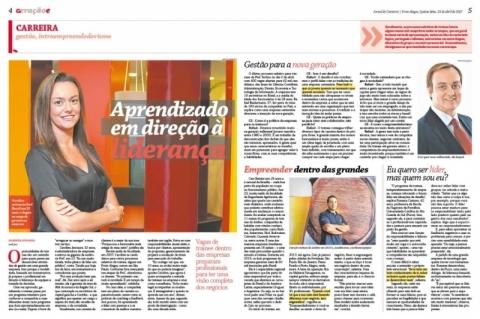 Reportagem central do GeraçãoE, edição do dia 13 de abril