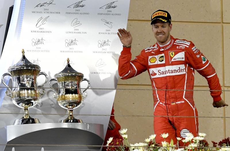 Piloto comemorou o bom desempenho do carro no circuito de Sakhir